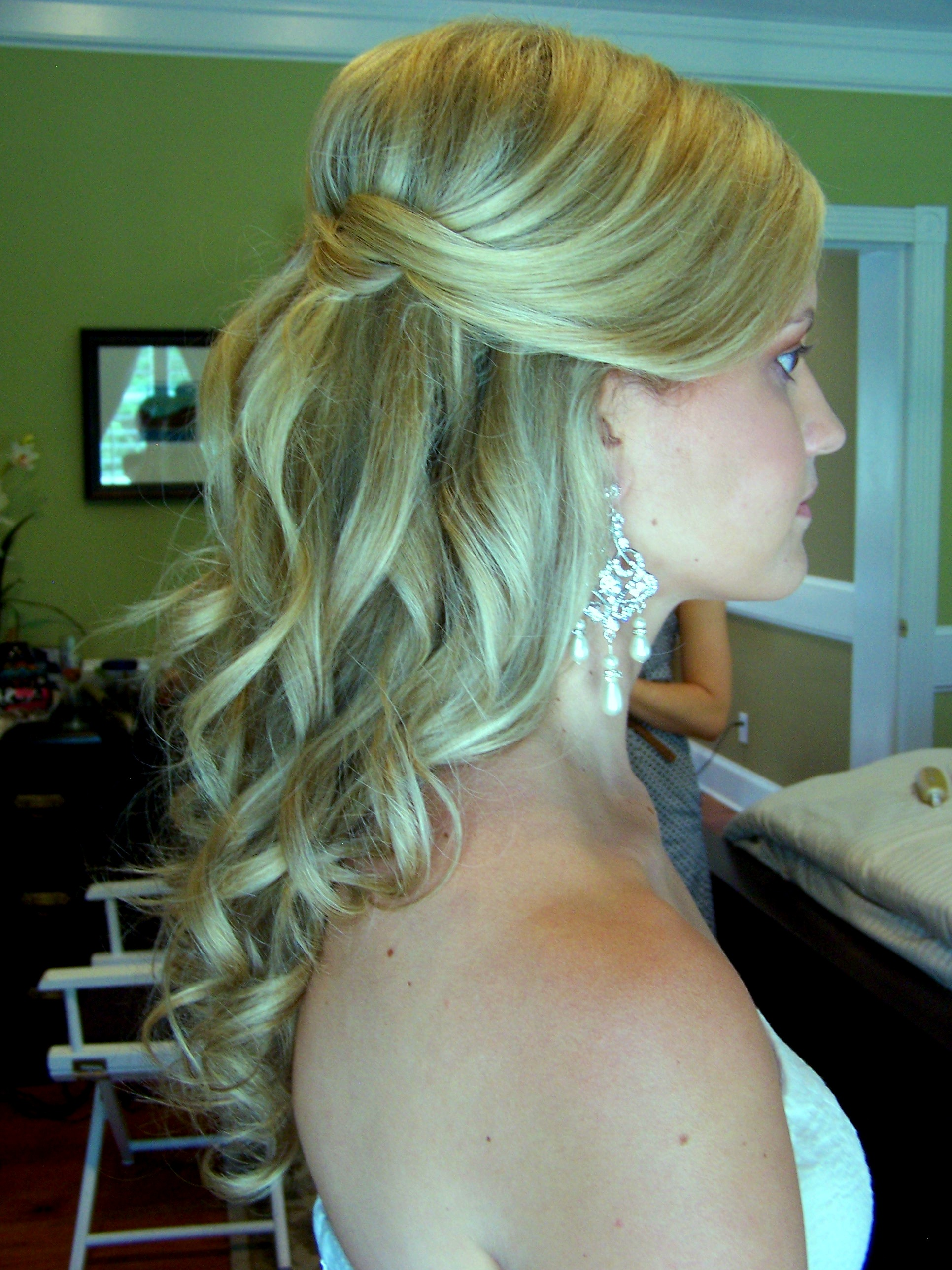Tags: down hair style , half up weddin hair style , wedding hairstyle